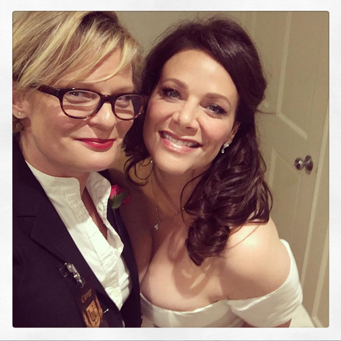 "<p>Actress Martha Plimpton married long-time friends Patton Oswalt and Meredith Salenger on Saturday (Nov 4). Meredith, 47, posted a photo with her officiant along with a heartwarming caption, ""I have admired, loved, and respected this magical human since I was 15 years old. Last night she masterfully officiated my wedding making everyone who wasn't already a huge fan of hers fawn all over her genius and decide she is their new favorite person. Martha, how do I express my love and gratitude to you for every minute of love and care you gave to us. Thank you for the greatest gift. And your friendship and sisterhood. I love you.""