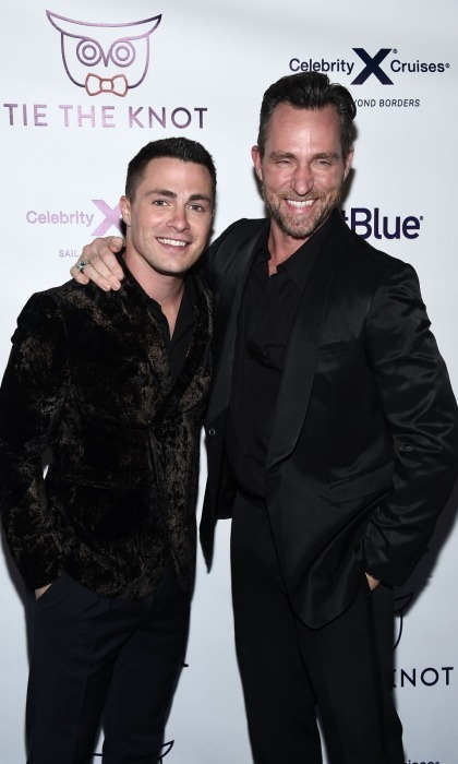 <h3>Colton Haynes and Jeff Leatham</h3>