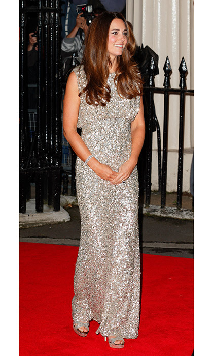 The epitome of dazzling in silver Jenny Packham at the Tusk Trust Conservation Awards in September 2013.