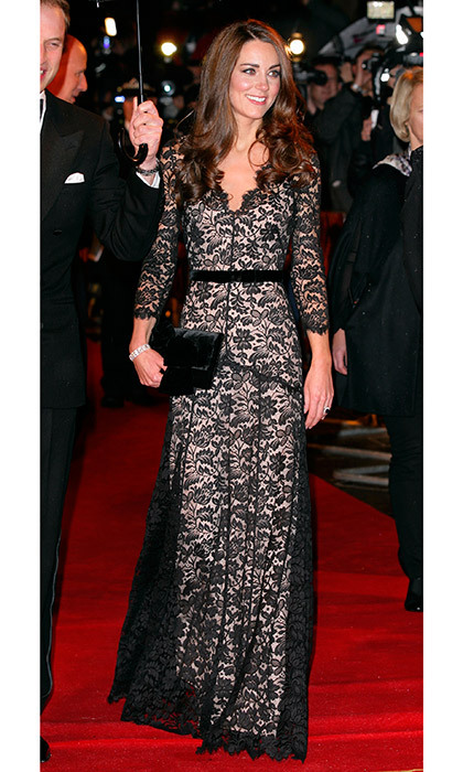 Lovely in a lace Temperley London dress at the <em>War Horse</em> premiere in January 2012.