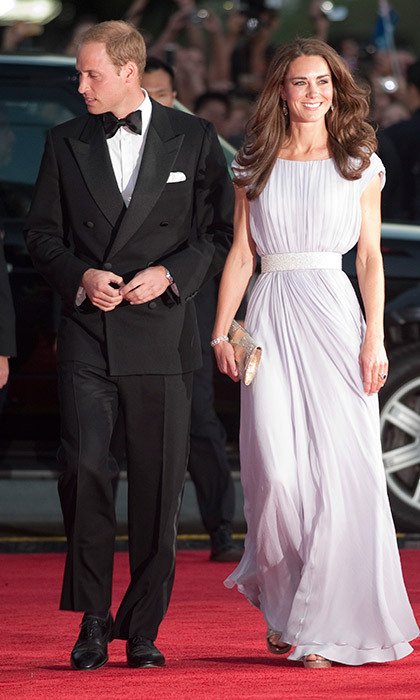 Kate called upon her favourite design house Alexander McQueen to create the stunning pastel lilac gown she wore to the BAFTA Brits To Watch event in Los Angeles in July 2011. 