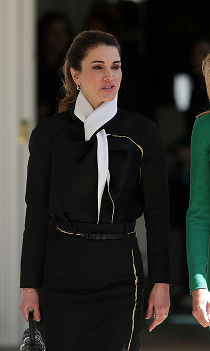 <p><strong>MELANIA TRUMP AND QUEEN RANIA OF JORDAN</strong> In her first meeting with a royal, First Lady Melania Trump chatted with Queen Rania of Jordan during a stroll through the White House West Colonnade. On the same day, President Donald Trump held a joint press conference with King Abduallah as the two met to discuss the Middle East peace process and other issues.</p>