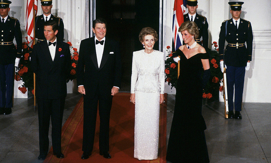 <p><strong>NANCY REAGAN AND PRINCESS DIANA</strong> Prince Charles and then-wife Princess Diana famously visited the US in November 1985, and one of the most memorable events was a black-tie gala with President Ronald Reagan and First Lady Mrs Nancy Reagan at the White House. Along with Diana's black off the shoulder gown, the evening is also remembered for the moment the Princess took a spin on the dance floor with actor John Travolta.</p>