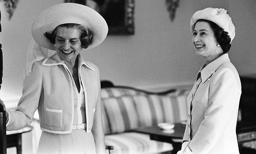 <p><strong>BETTY FORD AND QUEEN ELIZABETH II</strong> Hat's quite a portrait! The British monarch and President Gerald Ford's wife both wore stylish headwear for their meeting in July 1976. The first lady was showing Queen Elizabeth around the White House during the royal's official visit to the U.S. in honor of the American Bicentennial celebrations.</p>