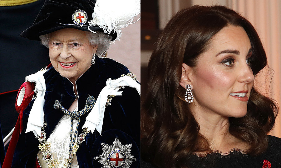 <h3>Diamond pendant earrings</h3>