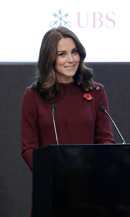 <p>The Duchess of Cambridge gave a speech at the Place2Be forum.</p>