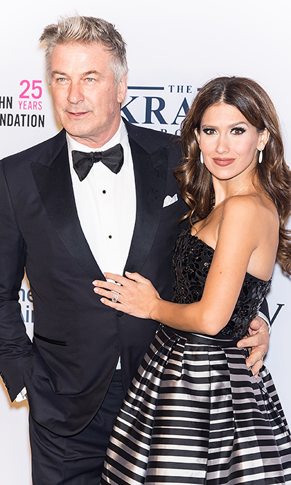 <p>Alec Baldwin and Hilaria Baldwin made their first red carpet appearance since announcing their fourth pregnancy at Elton John AIDS Foundation commemoration gala in New York. The SNL star looked handsome in a simple tuxedo, while his wife dazzled in a strapless black and silver gown.