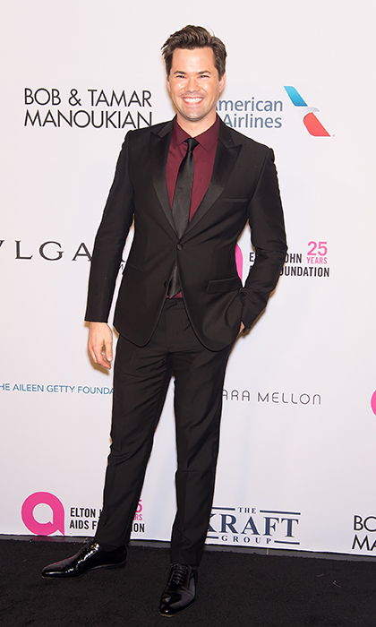 <p><i>Girls</i> actor Andrew Rannells looked dapper as ever at the New York Gala celebration of the Elton John AIDS Foundation. 