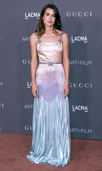 Daughter of Princess Caroline and granddaughter of Princess Grace of Monaco, Charlotte Casiraghi is a natural in the spotlight. The royal attended the 2017 LACMA Art + Film Gala in Los Angeles on November 4 wearing a jeweled pastel ombré gown by Gucci. <br/><br/>Photo: Taylor Hill/Getty Images</p>