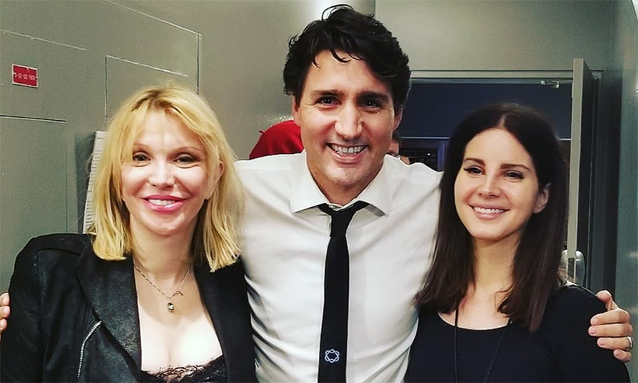 <p>Courtney Love and Lana Del Rey are big fans of the Prime Minister! Backstage at the Leonard Cohen tribute concert Nov 7, the trio snapped a quick photo to commemorate their meeting.