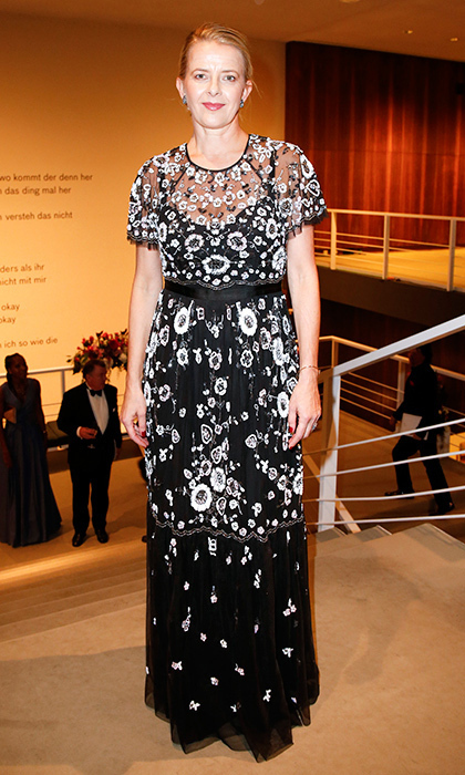 <p>Princess Mabel of Orange-Nassau also opted for a black and white embroidered look. The Dutch Princess wore the floor-length creation to the 24th annual Opera Gala at Deutsche Oper Berlin on November 4 in Germany. <br/><br/>Photo: Isa Foltin/Getty Images for Deutsche AIDS-Stiftung</p>