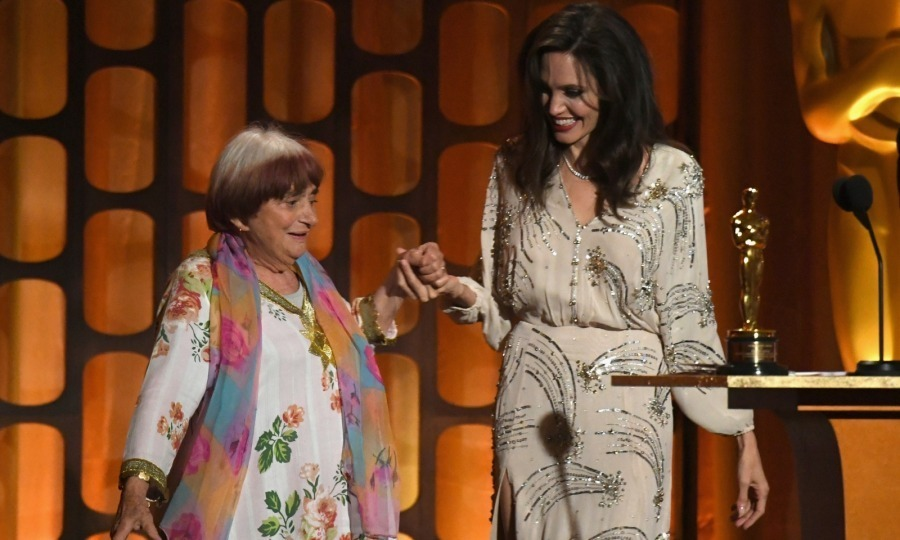 "<p>Dance revolution! During a heartfelt speech, Angelina Jolie praised French director Agnes Varda, who was an honouree at the 2017 Governors Awards. While the star may have expected a hug from Agnes afterwards, she probably didn't ever think they'd do a dance! However, that's exactly what they did. The 89-year-old Varda talent broke out her moves after accepting the honorary Oscar in what was a highlight of the evening. ""Tonight. I feel like dancing,"" Varda said to the crowd. ""The dance of cinema."" Angelina, who lived up to her stylish reputation in a bedazzled beige Elisabetta Franchi dress, was game for the impromptu moment, smiling as the pair got jiggy with it. Photo: Getty Images</p>"