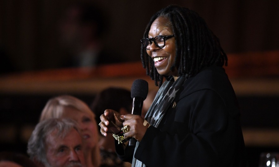 <p>Whoopi Goldberg charmed the crowd as she spoke during the annual awards ceremony.</p>