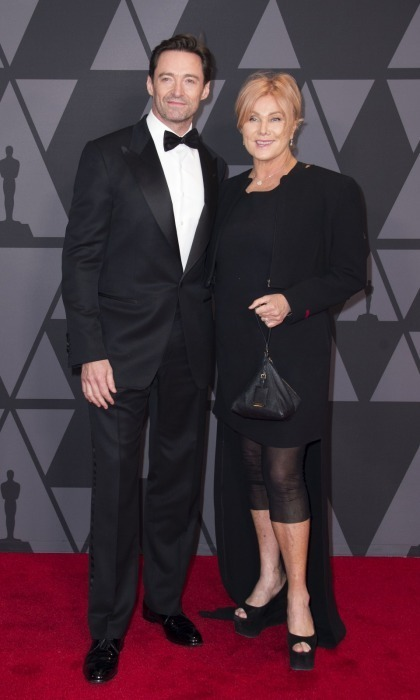 <p>Hugh Jackman and his wife Deborra-lee Furness made for a cute couple at the 2017 Governors Awards.</p>