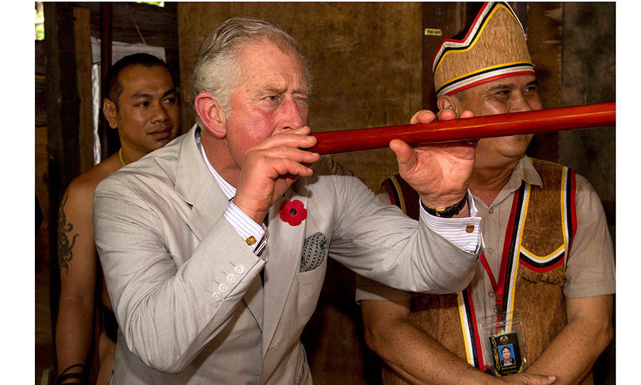 <p>Prince Charles took aim with a blowgun during a visit to the Sarawak Cultural Village on November 6, 2017 in Kuching, Malaysia. The British royal and wife Camilla, Duchess of Cornwall are on a tour of Singapore, Malaysia, Brunei and India.<br/><br/>Photo: Arthur Edwards - Pool /Getty Images</p>
