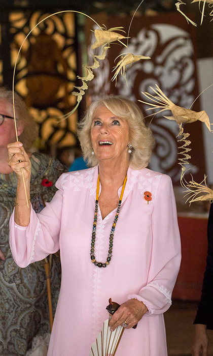 <p>Meanwhile, also at the Sarawak Cultural Village, where visitors are encouraged to learn through engaging with culture, Duchess Camilla was hands on with some local crafts.<br /><br />Photo: Arthur Edwards - Pool /Getty Images</p>