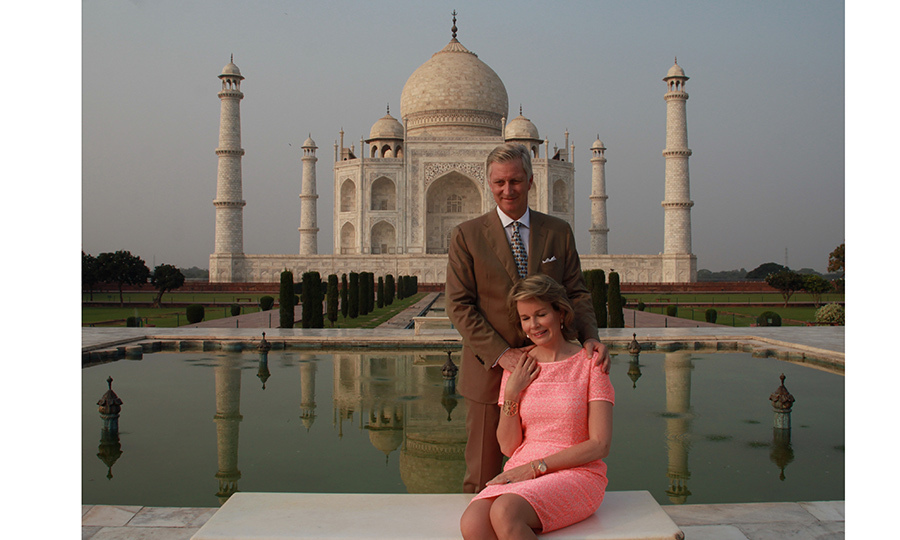 <p>November seems to be a popular month for royal tours! King Philippe of Belgium and wife Queen Mathilde took a break to capture a moment at this iconic site – the Taj Mahal in Agra – on November 6. The Belgian royals are on a state visit to India until November 11.<br /><br />Photo: STR/AFP/Getty Images</p>