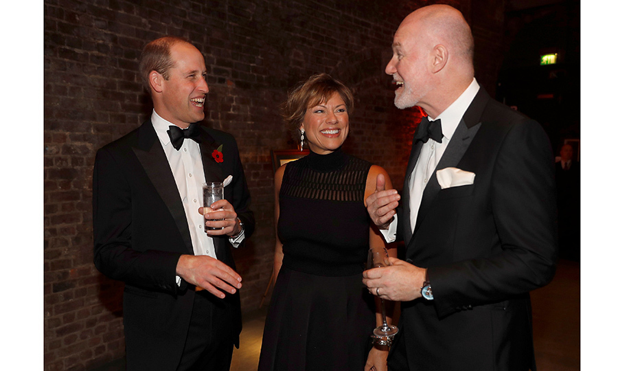 <p>What's so funny? Prince William shared a laugh with journalist Kate Silverton and royal PR guru Paddy Harverson, Communications Secretary to The Prince of Wales and The Duchess of Cornwall, at a gala night for the conservation charity Tusk at The Roundhouse in London on November 2.<br /><br />Photo: Peter Nicholls - WPA Pool/Getty Images</p>