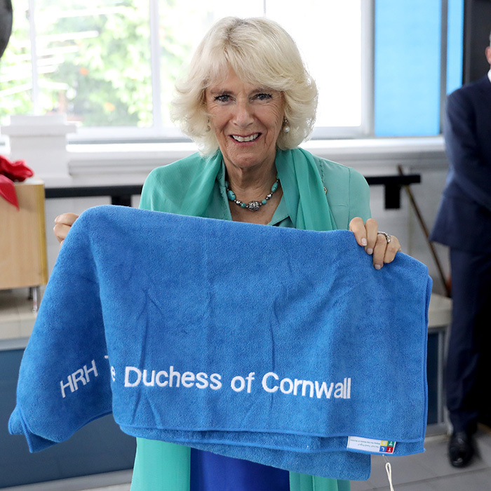 <p>On November 4, Camilla, Duchess of Cornwall saw first hand the work of the Lost Food Project and Lighthouse Children's Welfare Centre in Kuala Lumpur, Malaysia. The royal was also gifted with a special personalized present – a towel emblazoned with her name. <br /><br />Photo: Chris Jackson/Getty Images</p>