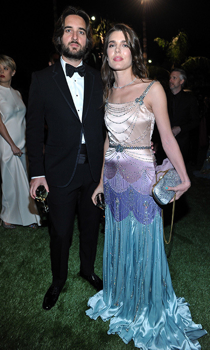 <p>Princess Grace's granddaughter Charlotte Casiraghi made a rare appearance on the red carpet with boyfriend Dimitri Rassam. The film producer, who is the son of French actress and model Carole Bouquet, joined his royal girlfriend at the LACMA Art + Film Gala Honoring Mark Bradford and George Lucas presented by Gucci on November 4 in L.A.<br /><br />Photo: Donato Sardella/Getty Images for LACMA</p>
