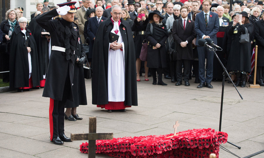 "<p>Prince Harry paid his respects at Westminster Abbey's Field of Remembrance on November 9. During the outing, the Queen's grandson spoke to bomb disposal expert Matt Weston about hiding his American love, Meghan Markle. ""I took the mickey and asked where his missus was and [Harry] said she wasn't here. I asked if she would come next time because she's awesome, and he said he couldn't hide her anywhere, but I said you wouldn't have to hide her,"" the 28-year-old, who served in Afghanistan, told reporters. ""I would love to meet her – I think she's very cool. [Harry's] a very lucky man and she's brilliant.""<br /><br />Photo: Samir Hussein/Samir Hussein/WireImage</p>"