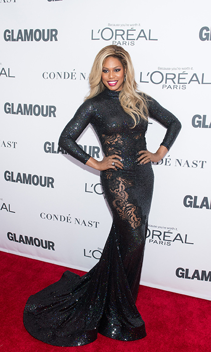 The ever stunning Lavern Cox dazzled in a long black lace gown at Glamour's Women of the Year awards Nov 13. She was a recipient of the woman of the year award back in 2013. This year, she took to the stage to discuss trans activism at the summit.