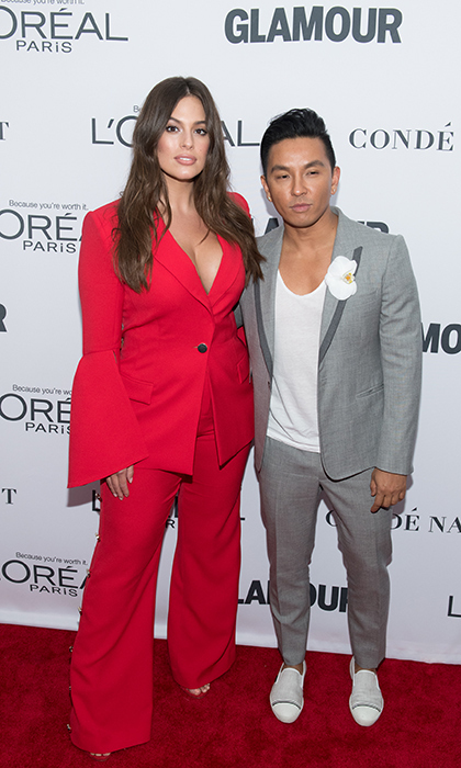 Model Ashley Graham looked red hot on the red carpet with designer pal Hrabal Gurung at Glamour's Women of the Year awards Nov 13! Last year, Ashley took him the body activist award.
