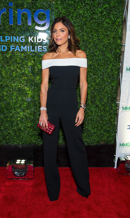 Bethenny Frankel wore an off-the-shouldered jumpsuit by Roland Mouret to the Delivering Good Gala in NYC. <em>The Real Housewives of New York City</em> star added a red Valentino clutch for some color. The mom-of-one, who has the B Strong Foundation, was honored for her work during hurricane season. 