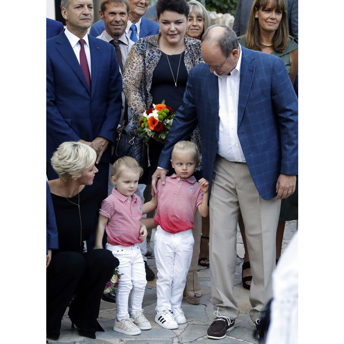 "<p>September 2017: Jacques and Gabriella matched as they attended the Monaco Picnic on the first of the month. The little royals both had on Adidas sneakers with white jeans and red patterned shirts alongside their parents Charlene and Albert. <br /><br />The picnic thrown to wrap the end of summer took place in Princess Antoinette park and the entire nation was invited to the ""the most joyous official event of the year.""<br /><br /><br />Photo: Eric Gaillard/AFP/Getty Images</p>"