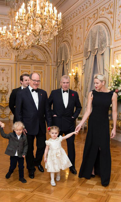 <p>Prince Albert and Princess Charlene had a special royal visitor to the Monaco Palace on November 7. The couple, along with their twins Prince Jacques and Princess Gabriella, welcomed Prince Andrew for a charity gala for Outward bound. <br /><br />The twins, who will turn three in December, wore their formal attire. For the Prince, he was in a suit and his siter was in a pretty ivory dress with tights.<br /><br />Photo: E. Mathon and g. Luci / Prince Palace</p>