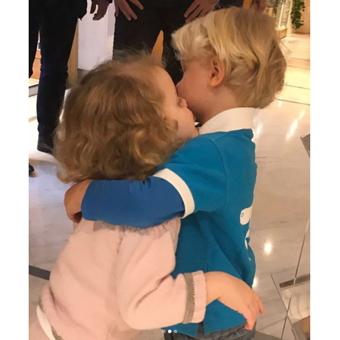 "<p>In the new photos, the royal siblings sweetly looked at each other's fresh hairstyles before embracing one another with a kiss and a hug. Alongside the pictures, a simple message read: ""Our First Haircut."" Jacques looked sharp sporting a style similar to his glamorous mother's pixie. The young Prince had his shorter locks parted to one side, while his sister's golden curls fell loose around her face.<br /><br />Photo: HSH Princess Charlene</p>"
