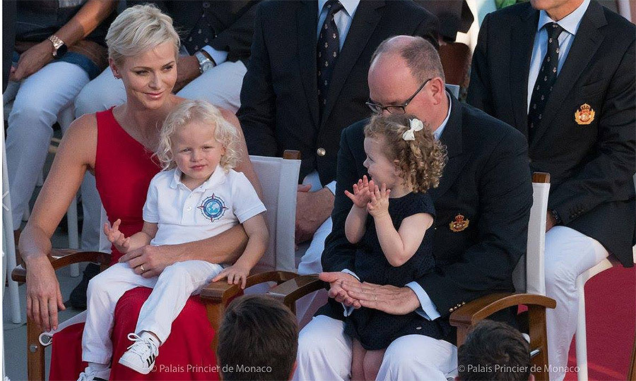 <p>While Princess Charlene looked on with a smile, holding Prince Jacques on her lap, little Princess Gabriella gave a round of applause.<br /><br />Photos: Facebook / © Photos: E. Mathon, G. Luci and A. Bastello / Palais Princier de Monaco</p>
