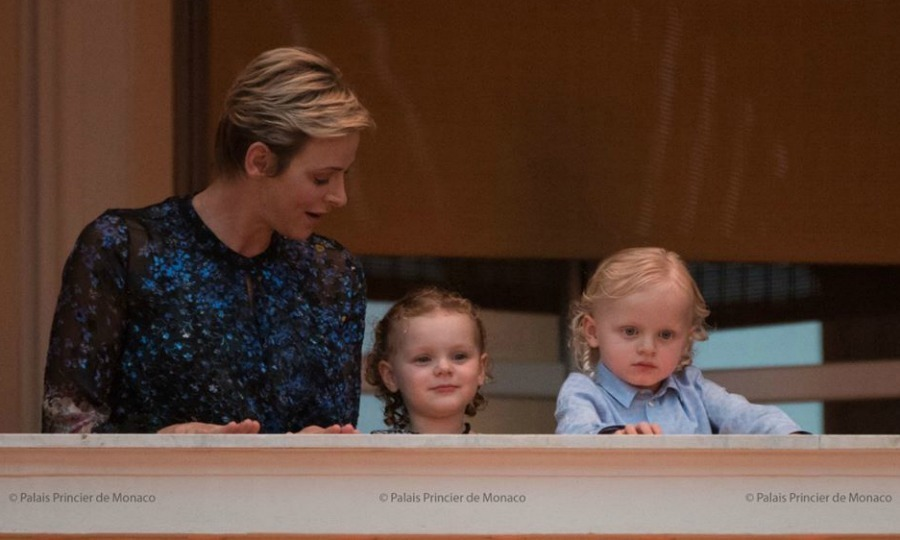 <p>June 2017: On June 23, the twins joined mom Princess Charlene on the balcony of the Royal Palace in Monaco to greet the crowds during the Saint Jean festivities.<br /><br />Photo: Facebook/Palais Princier de Monaco</p>