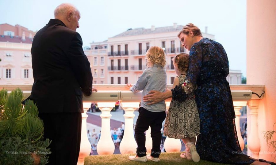 <p>Princess Charlene guided her little ones on the ins and outs of the day, even at one point leading Jacques and his little sister in a royal wave. <br /><br />Photo: Facebook/Palais Princier de Monaco</p>