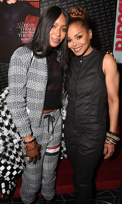 Legends! Supermodel Naomi Campbell met up with Janet Jackson at the pop icon's Barclays After Party at Barclays Center on November 15 in New York City. Ms Jackson is in the midst of her 2017 State of the World tour. 