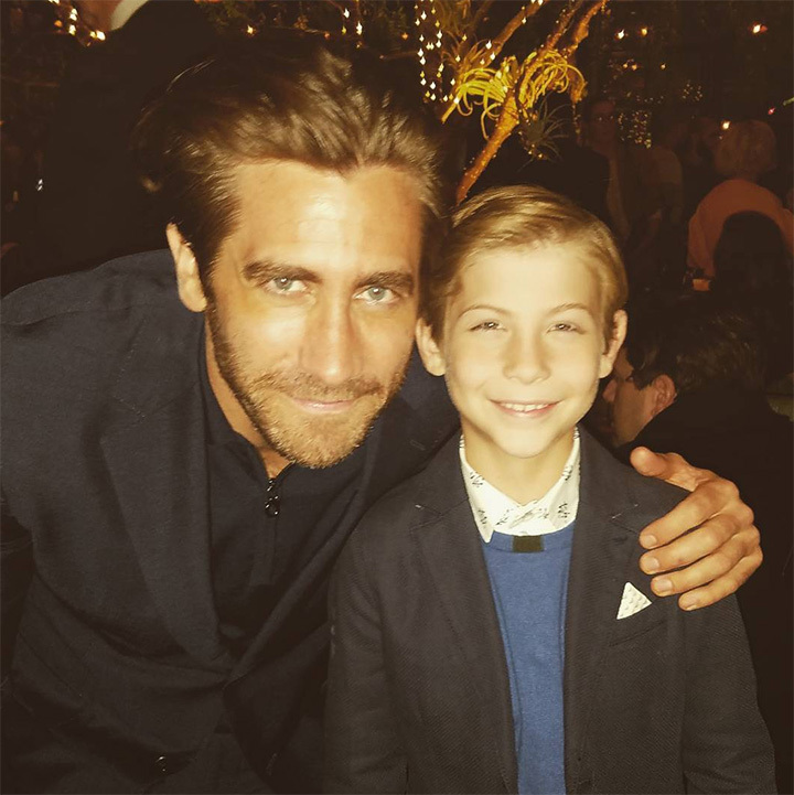 When Jake met.. Jacob! <i>The Wonder</i> star shared this adorable picture of himself meeting Jake Gyllenhaal at the HFPA and InStyle bash in West Hollywood on Nov 15 2017. 