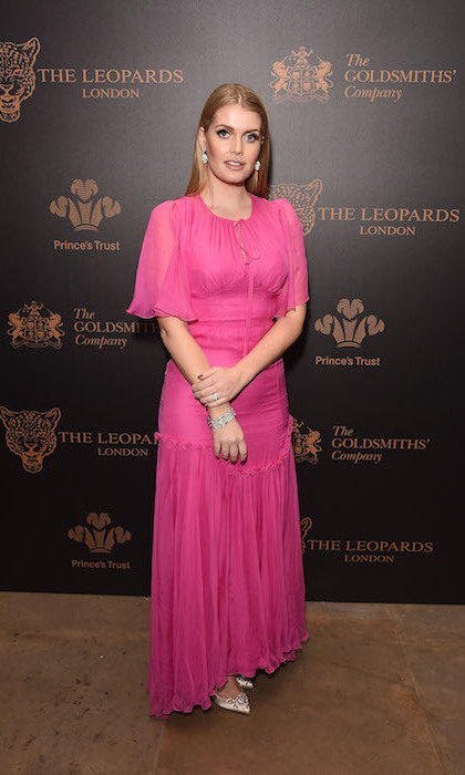 Princess Diana's niece Lady Kitty Spencer was a vision in hot pink Dolce & Gabbana at the Leopard Awards in Aid of the Prince's Trust in London. 