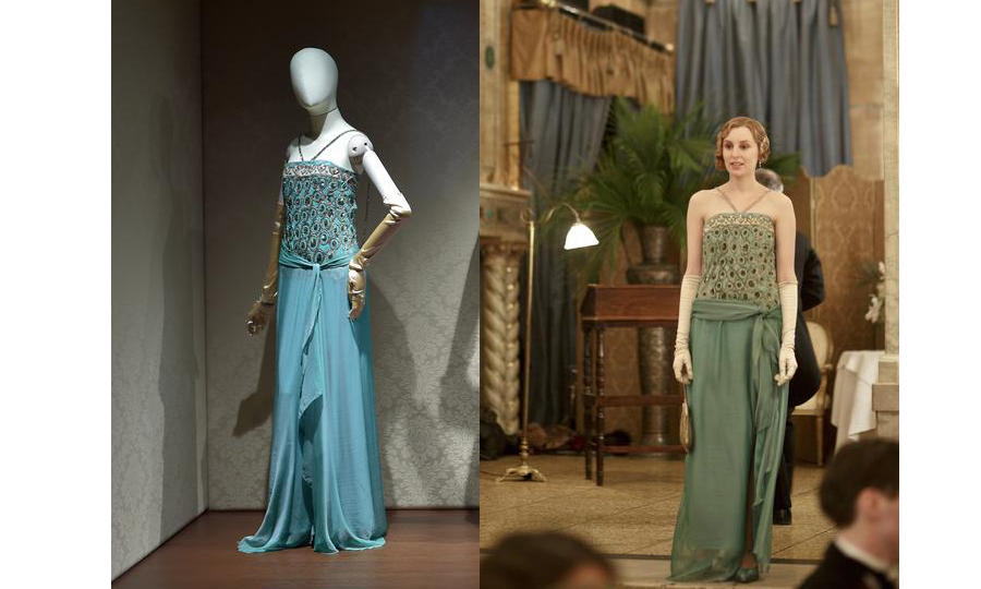 <p>Who can forget this stunning stunning sea foam green dress worn by Lady Edith.
