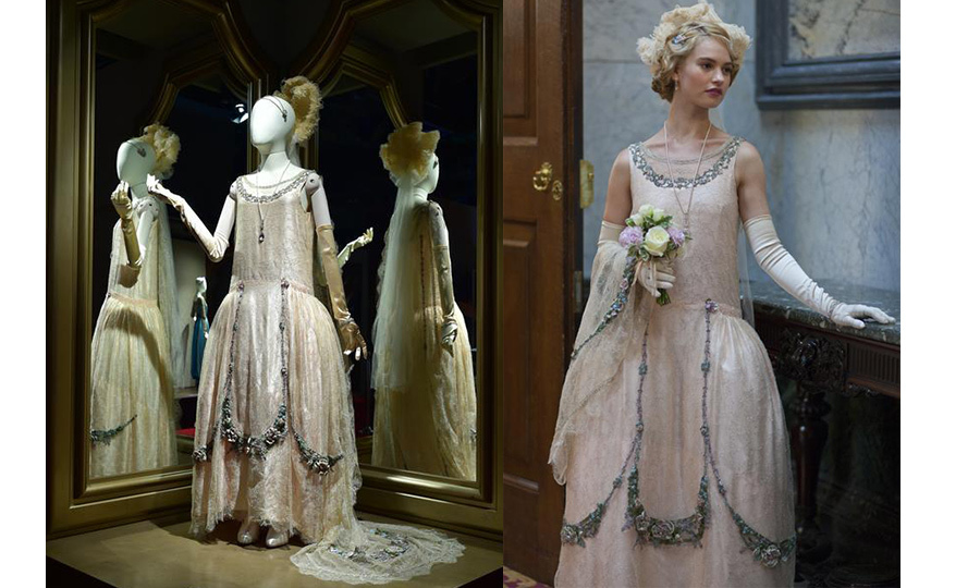 <p>One of Lady Rose McClare's (played by Lily James) iconic gowns can be seen in the exhibit.