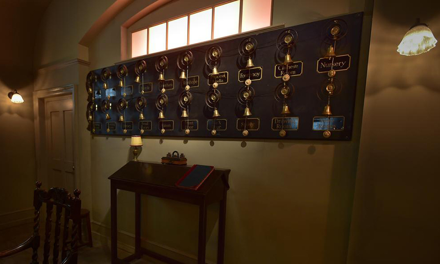 <p>The servant's hall even features all of the individual call bells. 