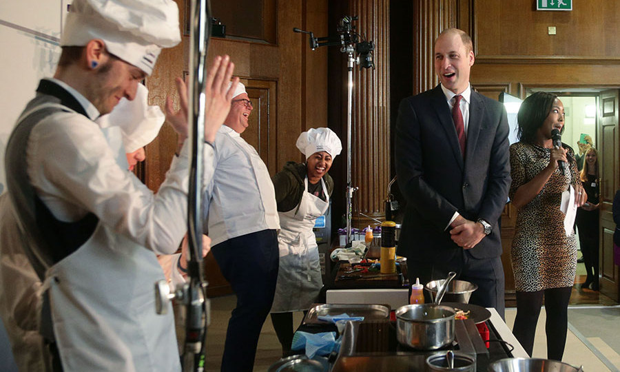 Prince William judged a cooking competition on Friday.