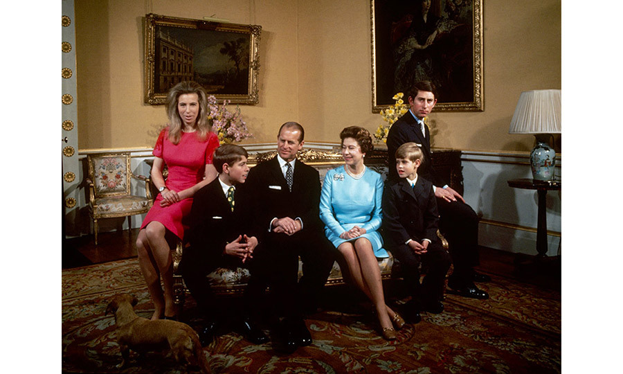 <p>The royal family at Buckingham Palace, London, 1972.</p>