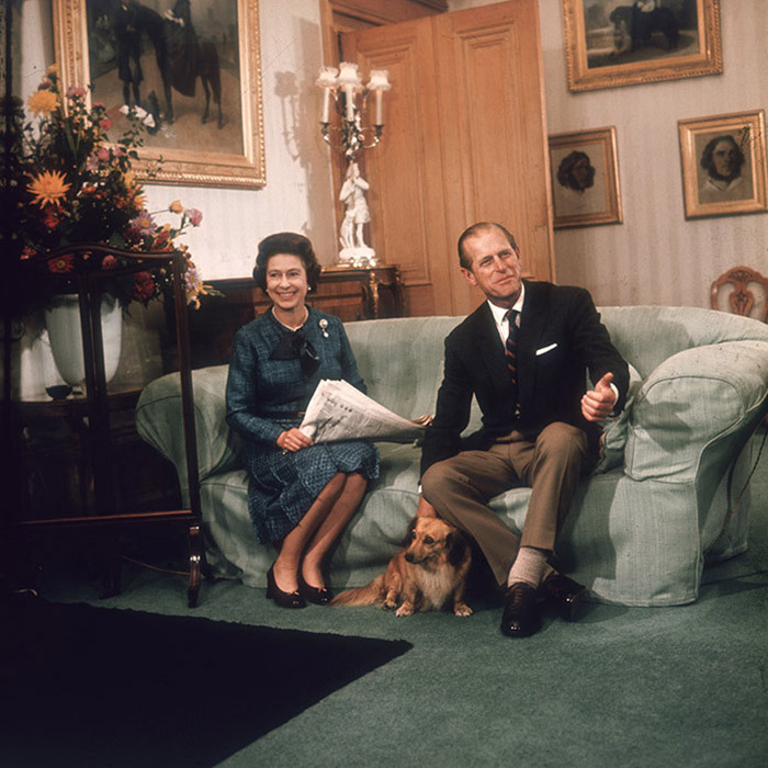 <p>Queen Elizabeth II with her husband, the Duke of Edinburgh, at Balmoral in 1976.</p>