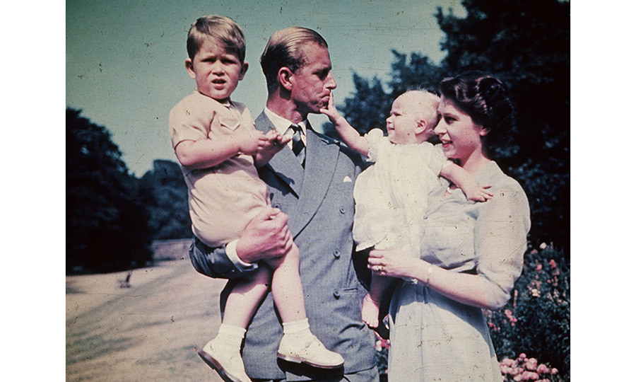 <p>Princess Elizabeth with her husband Prince Philip Duke of Edinburgh and their children Prince Charles and Princess Anne in 1951.</p>