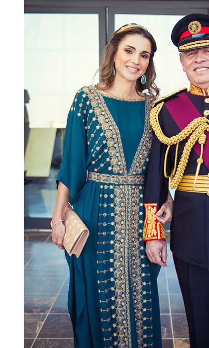 <p>NOW: The Prince ascended the throne in 1999, and the couple became the new King and Queen of Jordan. The royals have four children: Crown Prince Hussein, Princess Salma, Princess Iman and Prince Hashem. Here the royal couple are seen attending the Great Arab Revolt centennial at Al Rayah parade ground in the Royal Hashemite Court in Amman in June 2016. Photo: Royal Hashemite Court via Getty Images</p>