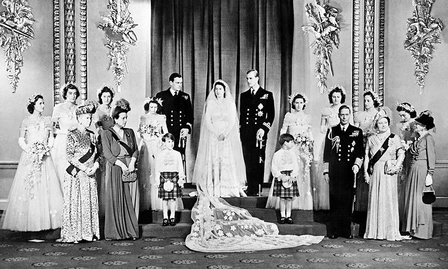 "Princess Elizabeth and Prince Philip became husband and wife at London's Westminster Abbey on November 20, 1947. ""Princess Elizabeth with her marvellous complexion and Prince Philip such a devastatingly handsome naval officer. He looked tender, she was adoring. They really were a dream couple,"" bridesmaid Lady Pamela Hicks told the <em>Telegraph</em>. 