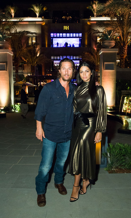 <p>Matthew McConaughey and wife Camila Alves spent an evening out in Florida at the RH Palm Beach opening. The new Restoration Hardware store is a completely immersive experience with a waterfall and more.</p>