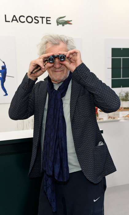 Sir Ian McKellen explored the Lacoste VIP Lounge during the 2017 ATP World Tour Semi- Finals at the O2 Arena on November 18 in London, England. The <em>X-Men</em> star attended the sporting event with famed producer and actress Dena Hammerstein.