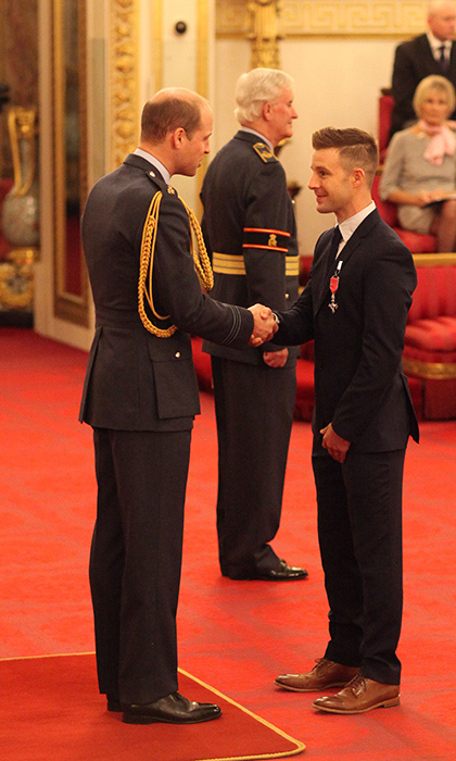 <p>Jonathan Rea is made an MBE at a Buckingham Palace investiture ceremony by Prince William.</p>