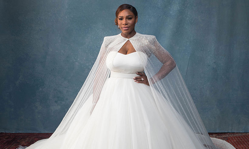 Serena Williams shows off her beautiful wedding ring ...